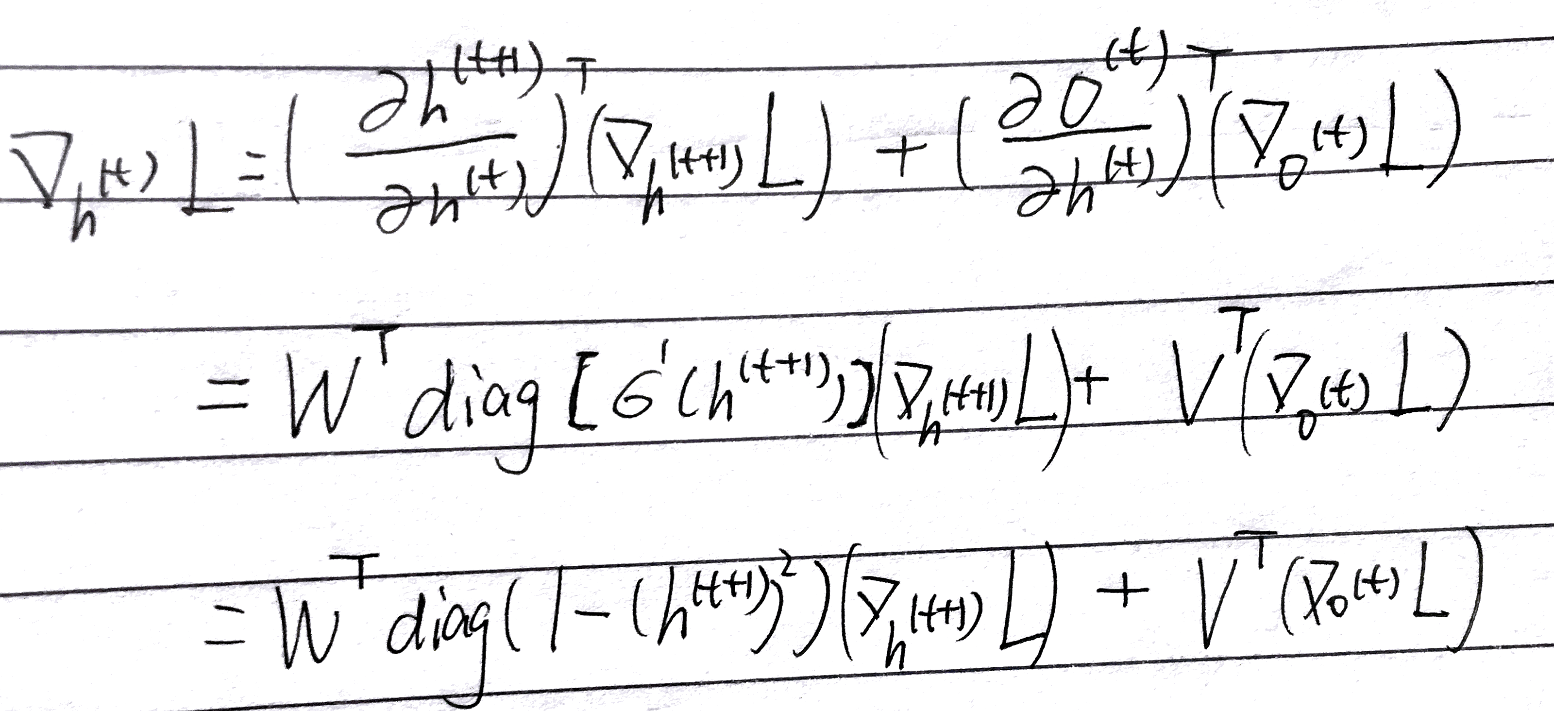 Derivative of h-t
